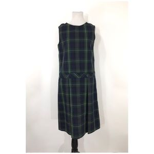 PARKER Girls School Uniform Plaid Jumper Dress 16